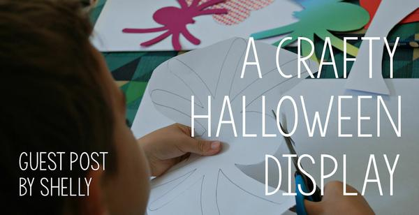 Shelly's kids make a fabulous crafty Halloween display
