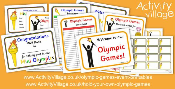 Holding your own Olympic Games printables revamped and expanded