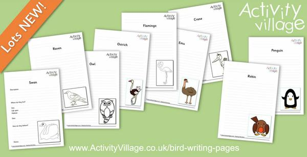 Topping up our bird writing pages