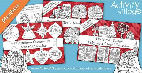5 really special colouring advent calendars