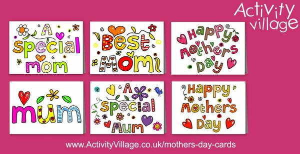 Lovely new printable Mother's Day cards