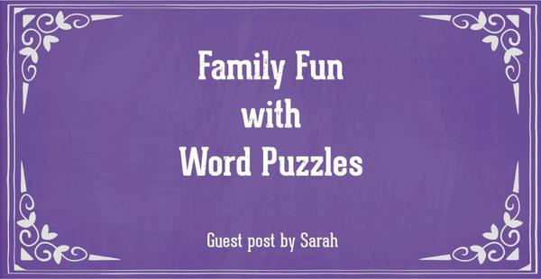 Guest post - Family fun with word puzzles