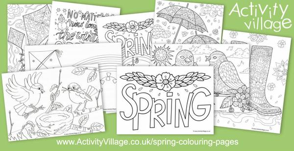 New spring colouring pages for all ages