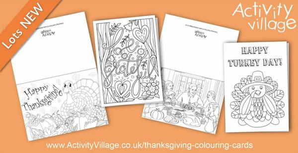 These are our newest colouring cards for Thanksgiving. More on the website.