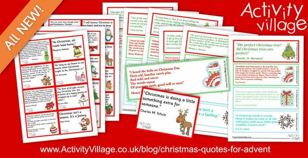 Christmas quotes lunch box notes and bookmarks for Advent
