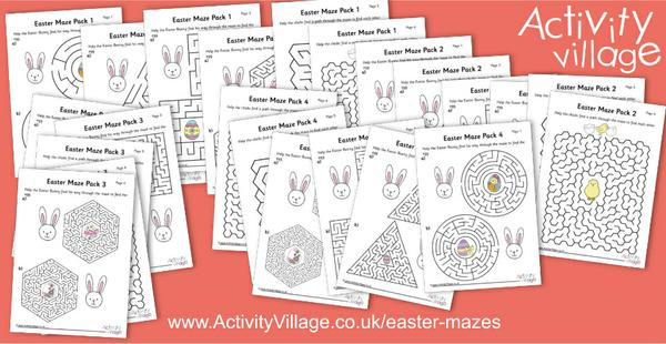 Adding to our Easter maze collection with 24 new! There's something for all ages and stages here.