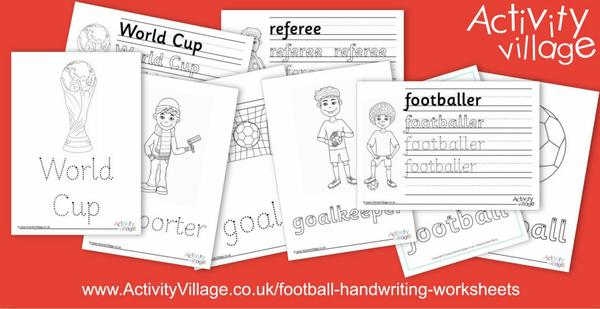 We've added these new football handwriting worksheets
