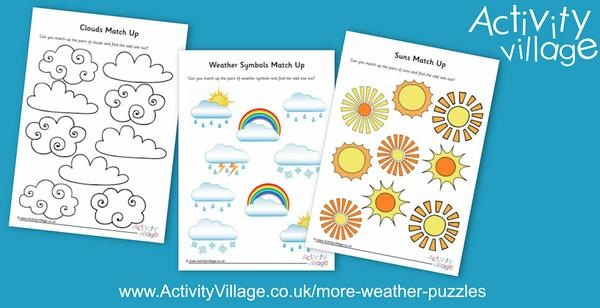 Weather match up puzzles for younger kids