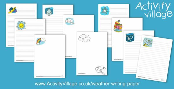 New weather writing paper pages