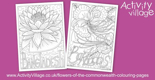 """Two new national flowers of Commonwealth countries - the water lily or shapla and the """"Pride of Barbados"""""""