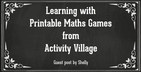Learning with printable maths games from Activity Village