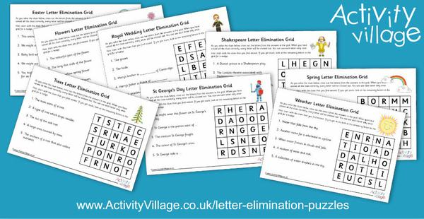 Brand new letter elimination puzzles