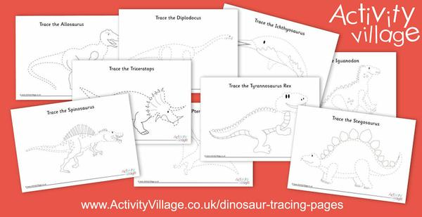 New dinosaur tracing pages
