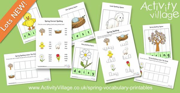 New spring spelling activities