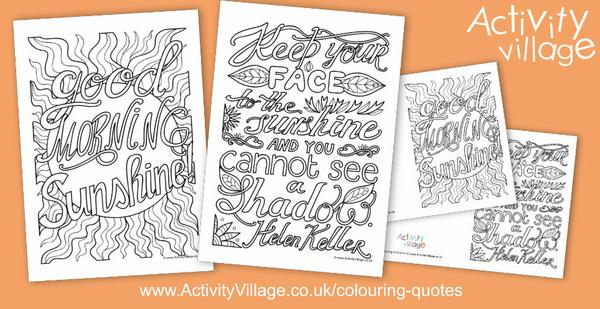 Welcome the sunshine with this week's colouring quotes!