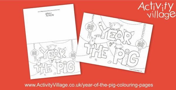Get ready to welcome in the Year of the Pig on 5th February with this lovely new Year of the Pig colouring page and card.