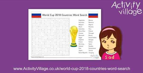 Apologies for our mistakes in this World Cup 2018 countries word search puzzle