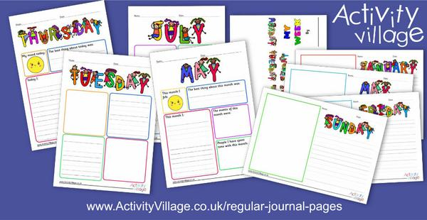 Start a journalling habit with our regular journal pages ...
