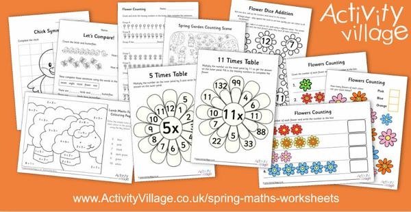And we've been topping up our spring maths worksheets with flower counting, times tables and dice game!