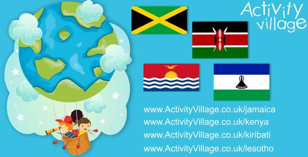 Fun new resources for learning about Jamaica, Kenya, Kiribati and Lesotho too.