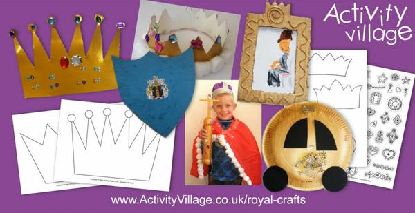 Get into the spirit with some royal crafts