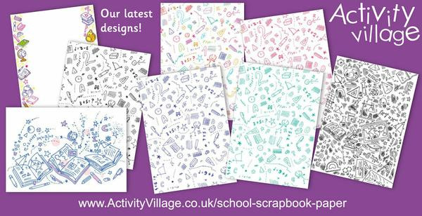 Adding to our collection of school scrapbook paper designs