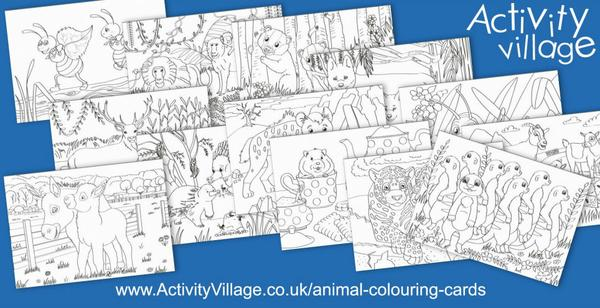 Adding to our collection of animal colouring cards