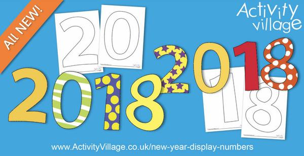 New Year display numbers for 2018