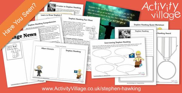 Our short biography of Stephen Hawking for kids, with interesting printable activities for a range of ages