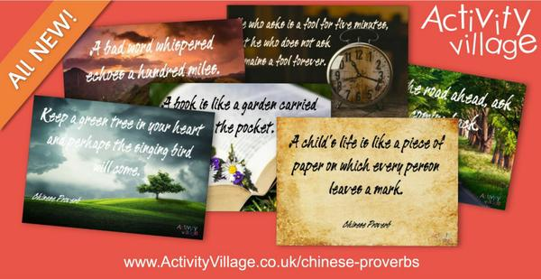 6 photographic posters featuring some of our favourite Chinese proverbs