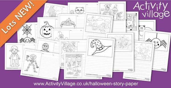 Adding to our collection of Halloween story paper