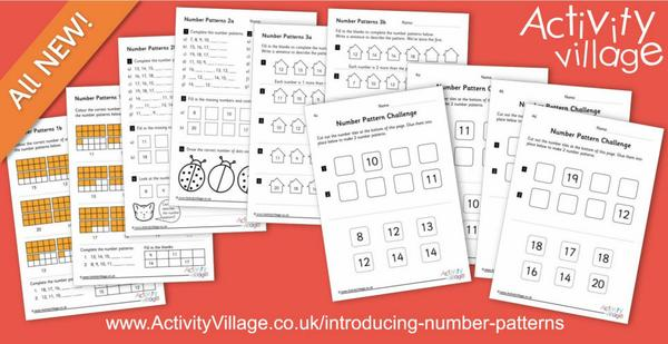 Introducing the most simple number patterns with interesting worksheets