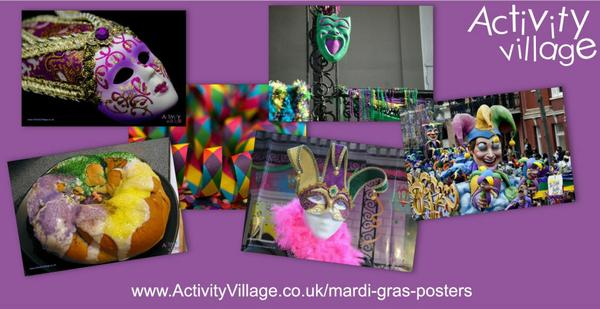 New photographic posters for Mardi Gras displays