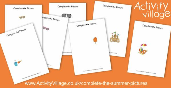 Complete the summer pictures for imaginative fun