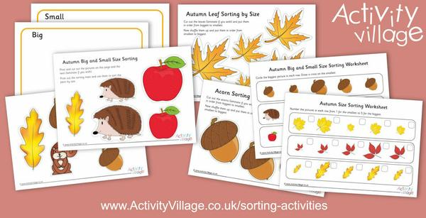 Our latest sorting activities - with an autumn theme.