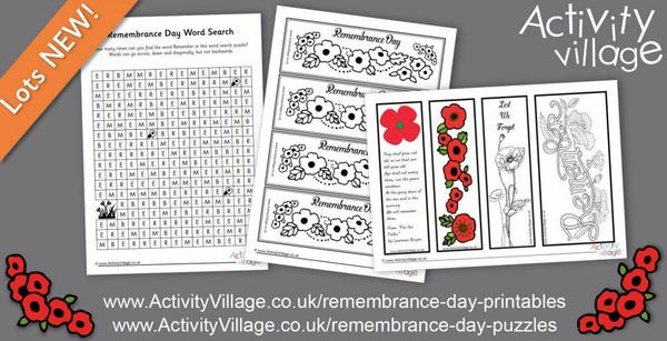 And more new Remembrance Day activities