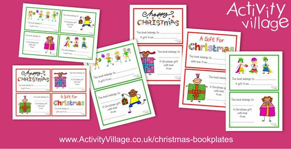 Make a book even more special by adding one of these new Christmas bookplates