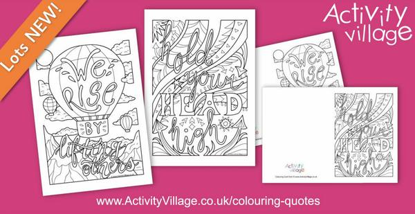 2 new inspiring colouring quotes this week