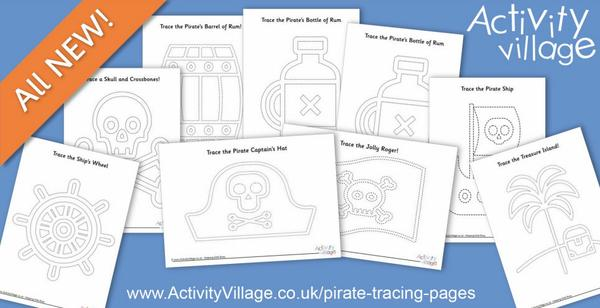 All new pirate tracing pages - such a fun way to practice pencil control skills