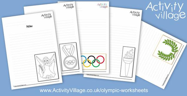 Five new general Olympic writing pages to add to our Olympic worksheets collection