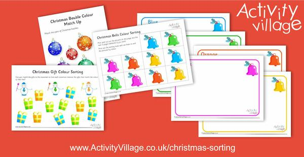 New colour sorting activities for Christmas