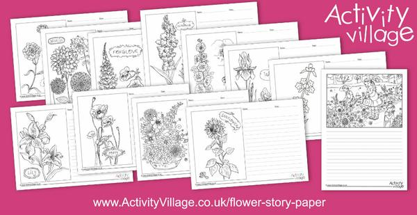 New flower story paper for nature studies and creative writing