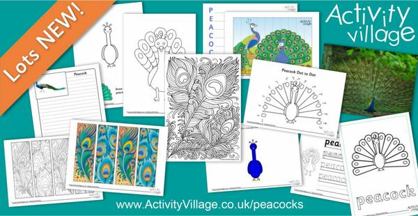 Celebrate the beautiful peacock with these new activities