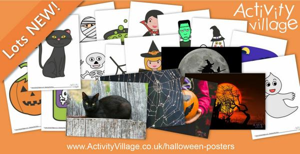 Many new Halloween posters to print - too many to show in the image!