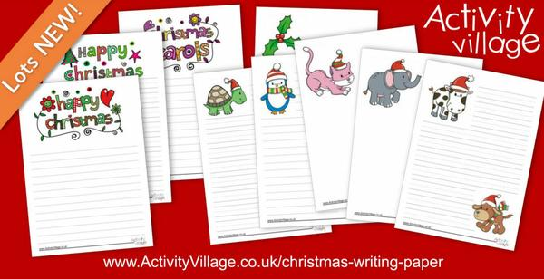 Fun new Christmas writing paper for all ages