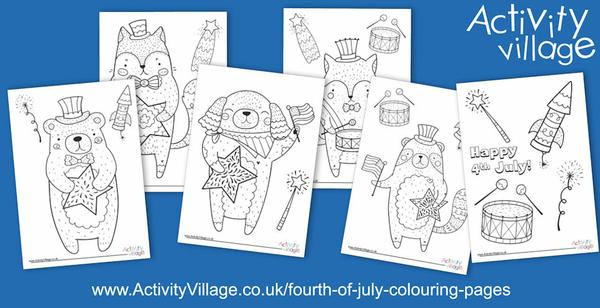 Topping up our Fourth of July colouring pages