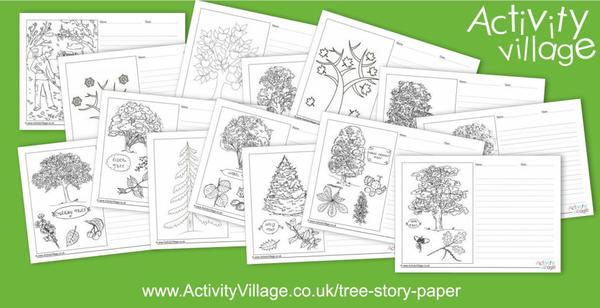 New tree themed story paper