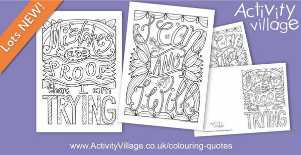 2 new motivational colouring pages and cards