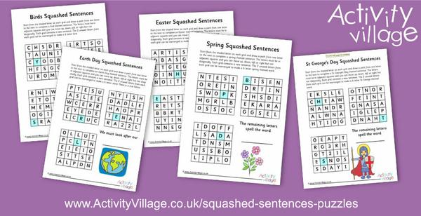 A new type of puzzle - Squashed Sentences!