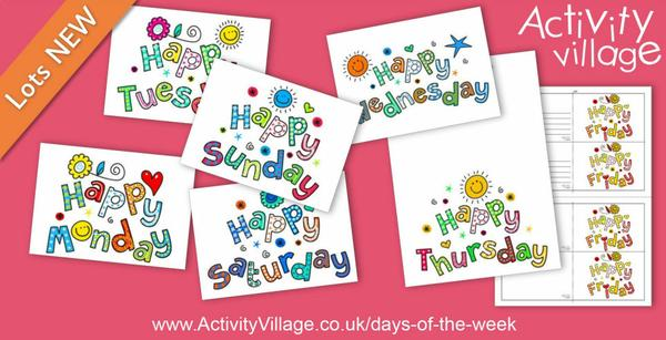 Cheerful new postcards and greetings cards for every day of the week!